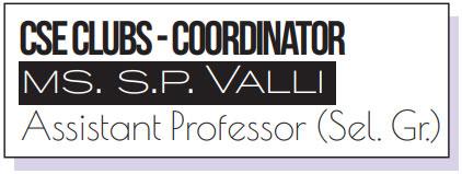 CSE-Clubs Coordinator